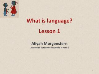 What is language? Lesson 1