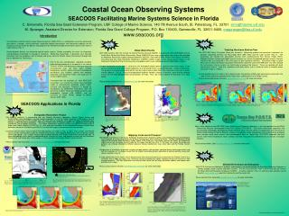 Coastal Ocean Observing Systems SEACOOS Facilitating Marine Systems Science in Florida