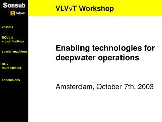 VLV ?T Workshop