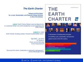 e-GLO , Earth Charter Global Learning Opportunity,