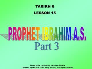 TARIKH 6 LE SSON 15