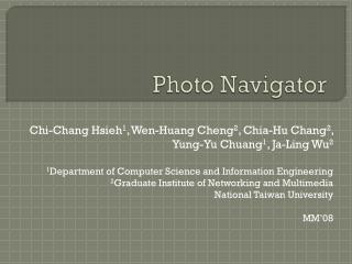 Photo Navigator