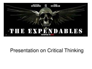 Presentation on Critical Thinking