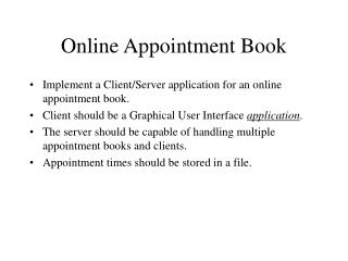 Online Appointment Book
