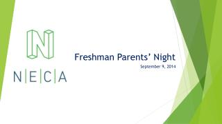 Freshman Parents' Night