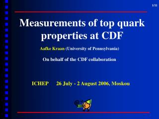 Measurements of top quark   properties at CDF