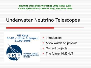 Underwater Neutrino Telescopes
