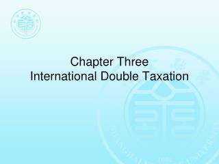 Chapter Three  International Double Taxation