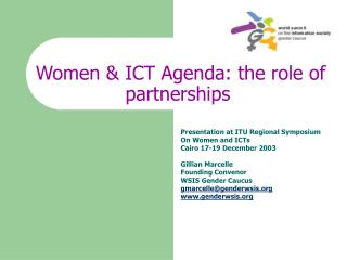 Women & ICT Agenda: the role of partnerships