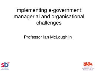 Implementing e-government: managerial and organisational challenges