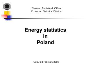 Energy statistics in Poland