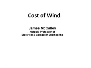 Cost of Wind