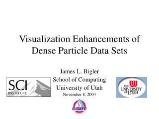 Visualization Enhancements of Dense Particle Data Sets