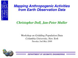 Mapping Anthropogenic Activities from Earth Observation Data