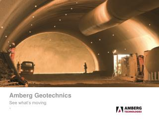 Amberg Geotechnics See what's moving