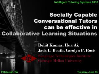 Socially Capable Conversational Tutors can be effective in Collaborative Learning Situations