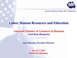 amcham.ro Anca Harasim, Executive Director March 7, 2009 Bucharest, Romania