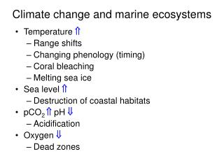 Climate change and marine ecosystems