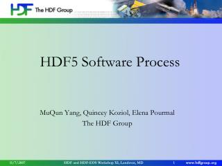 HDF5 Software Process