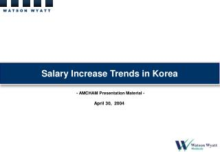 Salary Increase Trends in Korea