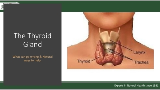 Thyroid in Health and Disease