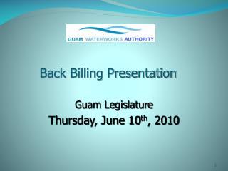 Back Billing Presentation