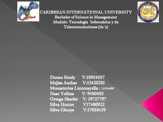 CARIBBEAN INTERNATIONAL UNIVERSITY Bachelor of Science in Management