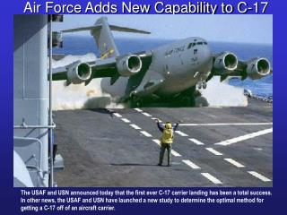 Air Force Adds New Capability to C-17