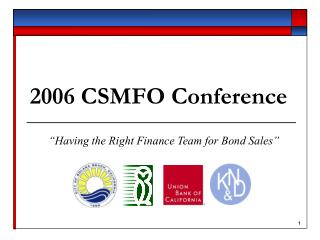 2006 CSMFO Conference