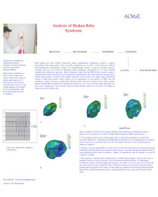 Analysis of Shaken Baby Syndrome