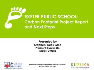 EXETER PUBLIC SCHOOL: Carbon Footprint Project Report and Next Steps