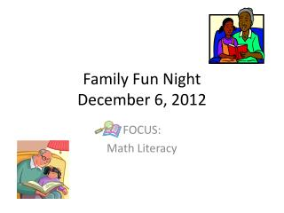 Family Fun Night December 6, 2012