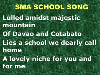 SMA SCHOOL SONG