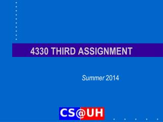 4330 THIRD ASSIGNMENT