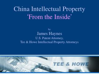 China IP  'From the Inside'