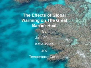 The Effects of Global Warming on The Great Barrier Reef