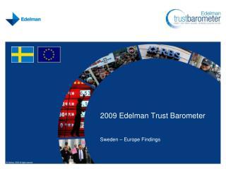 2009 Edelman Trust Barometer