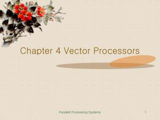 Chapter 4 Vector Processors