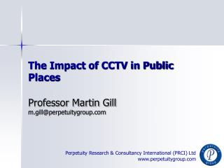 The Impact of CCTV in Public Places