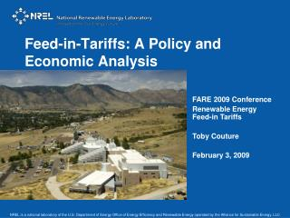 Feed-in-Tariffs: A Policy and Economic Analysis