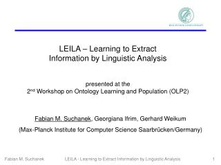 LEILA – Learning to Extract Information by Linguistic Analysis