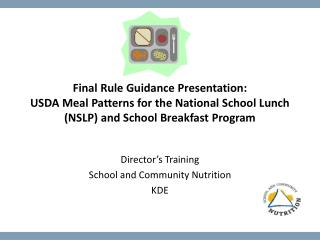 Director's Training School and Community Nutrition KDE