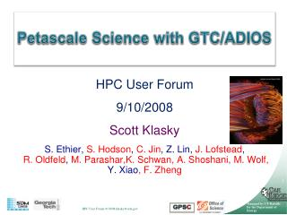 Petascale  Science with GTC/ADIOS