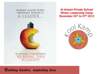 Building leaders, impacting lives