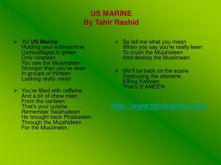 US MARINE By Tahir Rashid