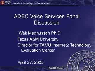 ADEC Voice Services Panel Discussion