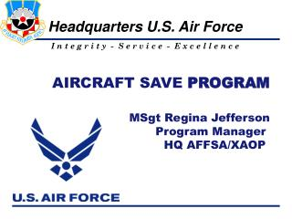 AIRCRAFT SAVE  PROGRAM