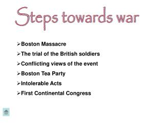 Steps towards war