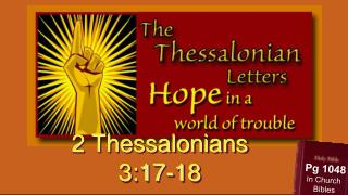 2 Thessalonians 3:17-18