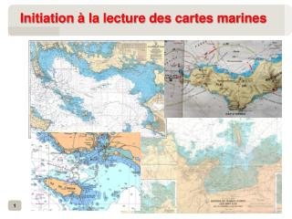 Initiation à la lecture des cartes marines